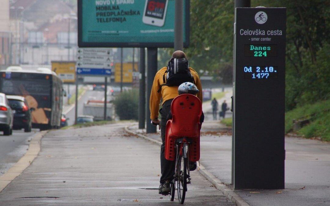 Štirje novi števci kolesarjev v Mestni občini Ljubljana